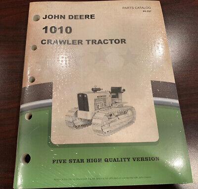 John Deere 1010 Series Crawler Tractor Parts Manual Book Catalog Pc-727