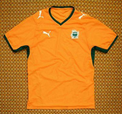 2008 - 2009 Côte D'Ivoire Ivory Coast, Home Football Shirt by Puma, Mens Medium image