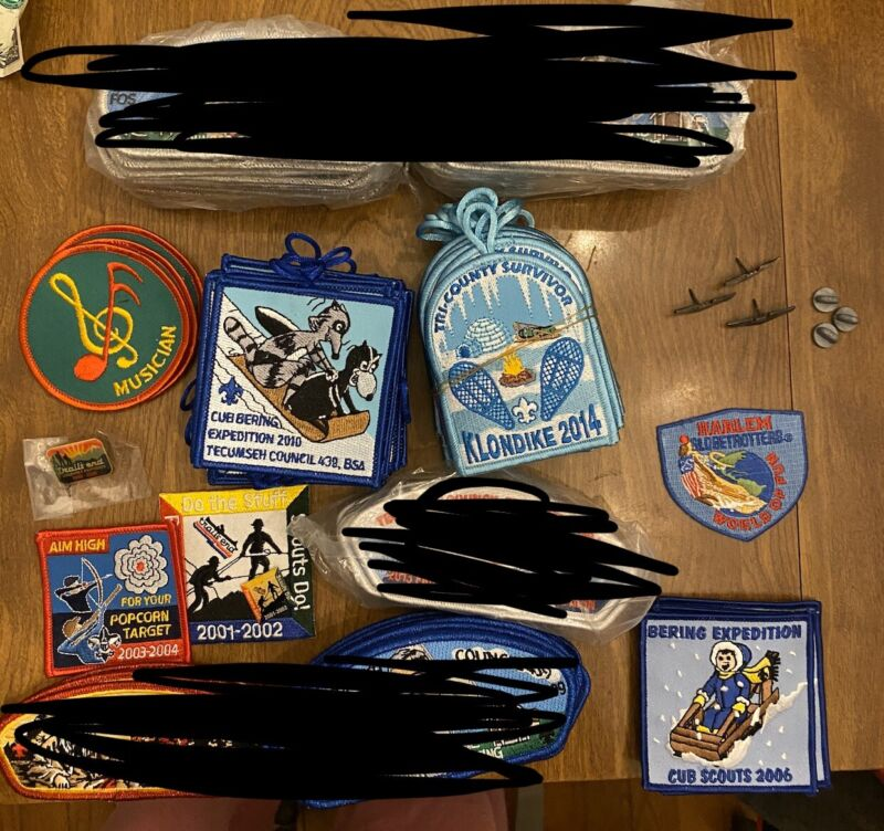 120+ lot of Boy Scout patches Popcorn Camps events Tecumseh Council OHIO NEW