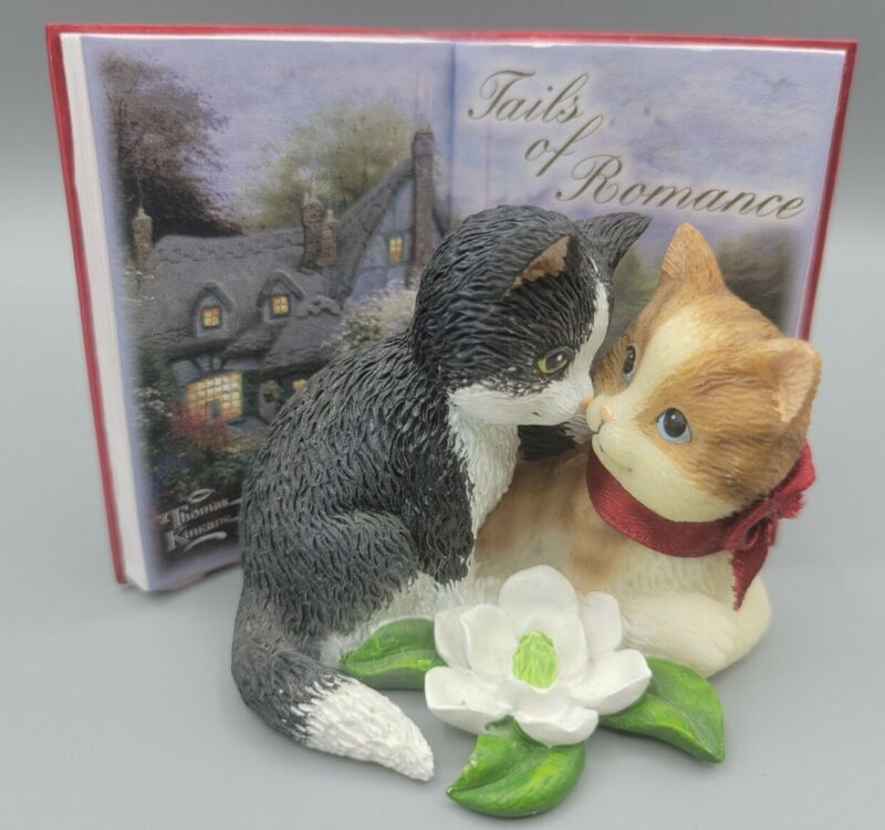 "Thomas Kinkade 2011 ""Tails Of Romance ""  Kittens"