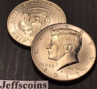 Clad Half Dollars - 2017 P&D Kennedy Half Dollars Kenedy PD MINT ROLL Clad 50¢ 2 Uncirculated Coins