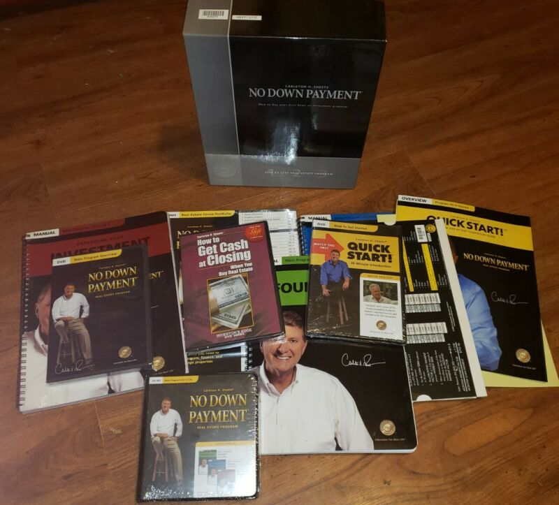 Carleton Sheets No Down Payment Real Estate Program, Manuals, 14 CDs, 2DVDs  New