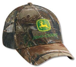 NEW John Deere All Mesh Realtree Hardwoods Camo Cap JD Hat  LP27813