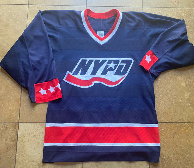 Vintage CCM NYPD New York Police Hockey Jersey Mens/Adult Small