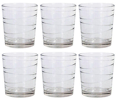 6x Cocktail whisky drinking glasses tumblers highball ALIAN lacey 360ml