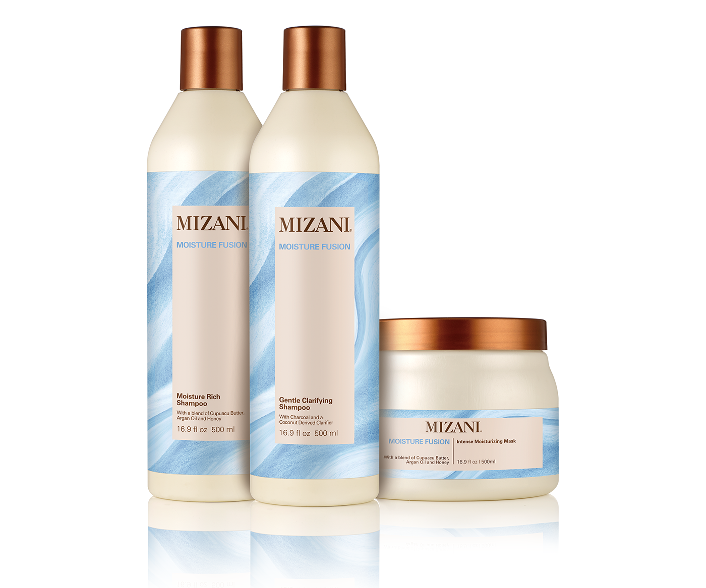 Mizani Moisture Fusion Gentle Shampoo 16.9oz Moisture Rich Shampoo and Mask SET Hair Care & Styling