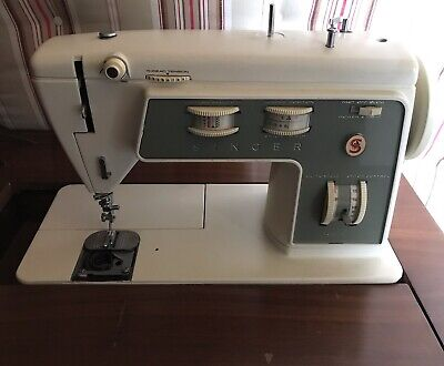 Singer Stylist Zig-Zag Sewing Machine With Hinged Cabinet, Model # 774