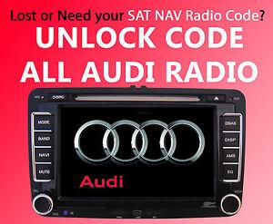 Audi Radio Concert Code