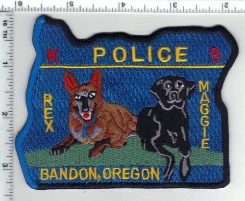 Bandon Police (Oregon) K-9 Shoulder Patch - new
