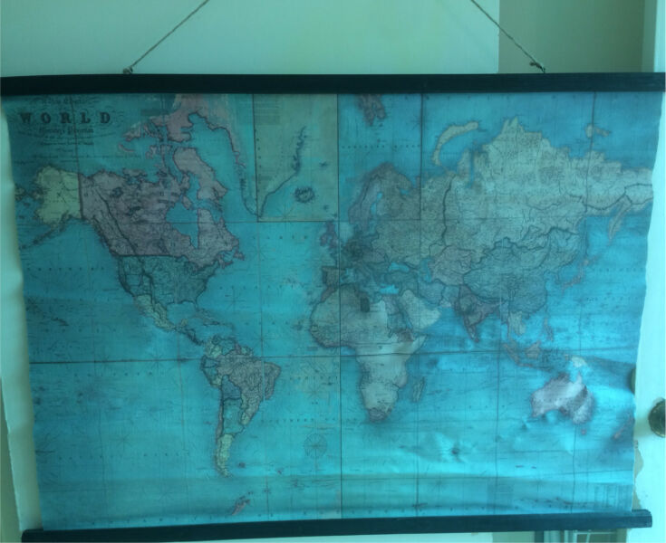 World map scroll type picture other home decor gumtree world map scroll type picture gumiabroncs Choice Image