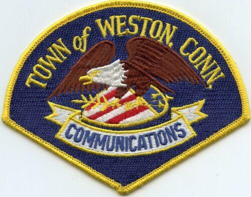 WESTON CONNECTICUT CT COMMUNICATIONS 9-1-1 Dispatcher POLICE PATCH