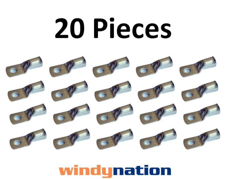 (20) 4 GAUGE 4 AWG X 5/16 in TINNED COPPER LUG BATTERY CABLE CONNECTOR TERMINAL
