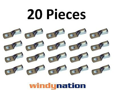 (20) 2 GAUGE 2 AWG X 3/8 in TINNED COPPER LUG BATTERY CABLE CONNECTOR TERMINAL