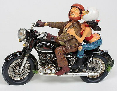 "GUILLERMO FORCHINO - ""EXCITING MOTOR RIDE"" -  Comic Art Skulptur - FO85070 NEU!!"