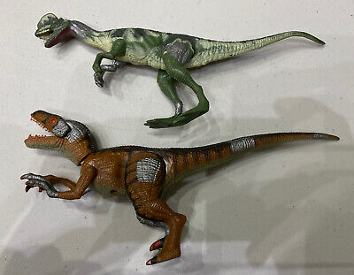 Jurassic Park dinosaur Lot Bundle DILOPHOSAURUS  & Velociraptor