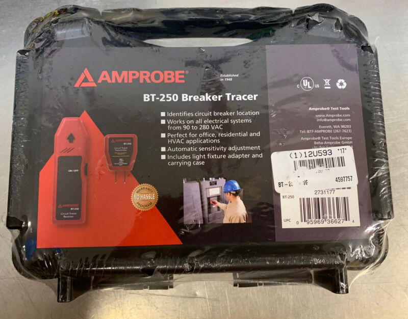 Amprobe BT-250 Circuit Breaker Tracer for Electrical Systems 90-25 VAC - NEW!