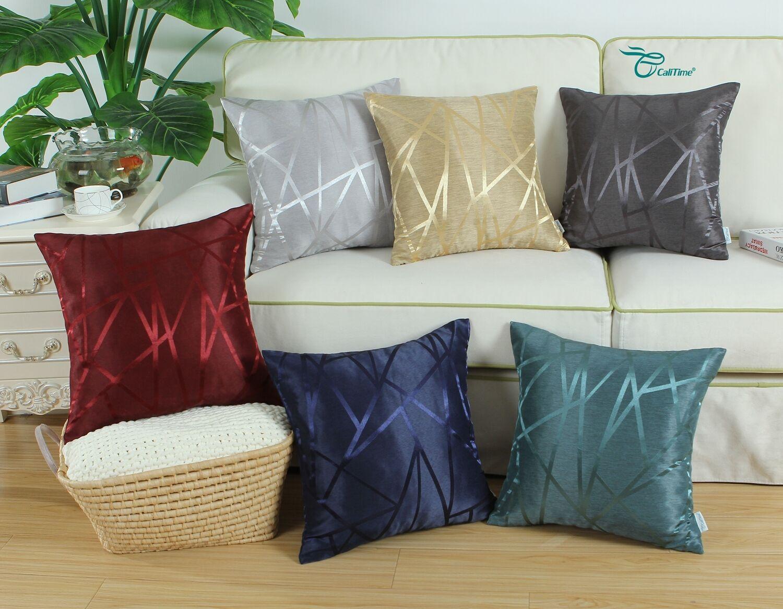 throw pillows shells lines home decor reversible