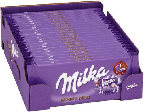20x Milka Alpine Milk, Milk Chocolate, Luxury bars of chocolate, 20x 100g bars