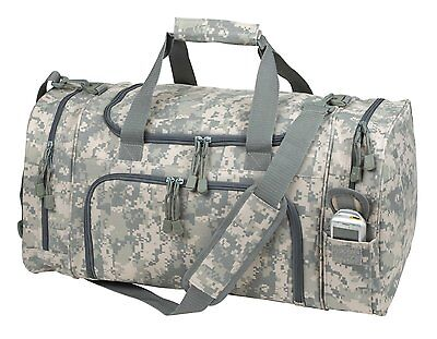 "21"" Tactical Military Duffle Camo Gun Ammo Range Gear Bag Hunting Duffel Bag"