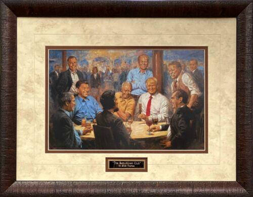 Andy Thomas The Republican Club Donald Trump Signed Art Print Framed 27 x 21