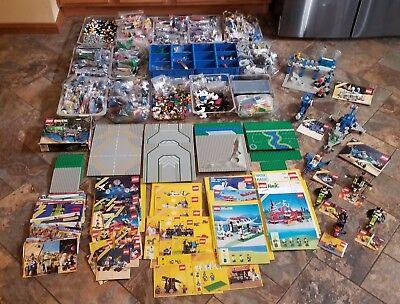 MASSIVE LOT VINTAGE 1980'S-1990'S Legos 6930 1983 Set Minifigs Space Mid Evil