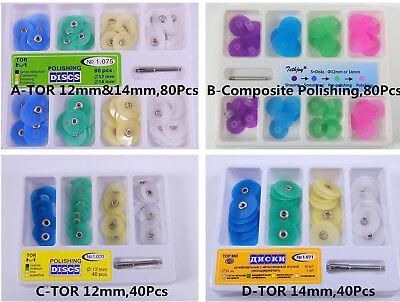 Dental Composite Polishing Finishing Discs 4080 Universal Kit 12mm 14mmmandrel