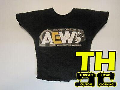 AEW Mattel Elite 1 Custom Kenny Omega Shirt for Wrestling Figure NXT WWE
