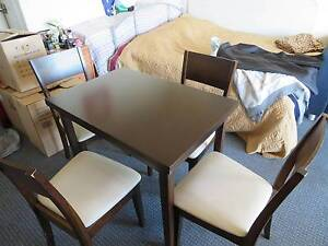 Extendable Dining table with 4 chairs Artarmon Willoughby Area Preview