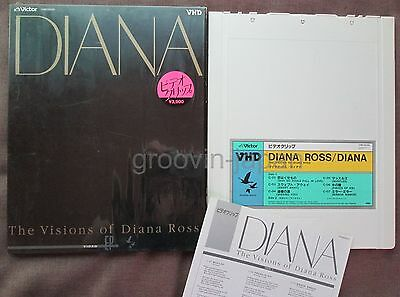 DIANA ROSS The Visions of JAPAN-ONLY VHD w/Picture Slip Case+Shrink VHM-39030