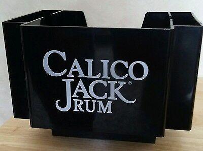 Calico Jack Rum Black Napkin Caddy Holder - MINT