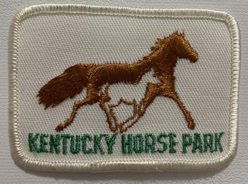 Kentucky Horse Park Patch Racing Colt Lexington KY Souvenir Travel Horses Vtg