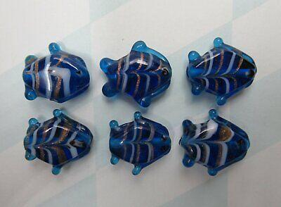 Glass Fish Beads Aqua Blue 18mm 3/4