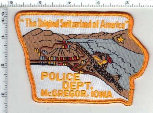 McGregor Police (Iowa) Shoulder Patch - new