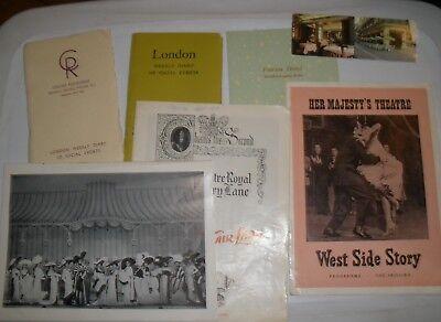 SOUVENIR THEATRE PROGRAMS My Fair Lady West Side Story London Events 1958-1960
