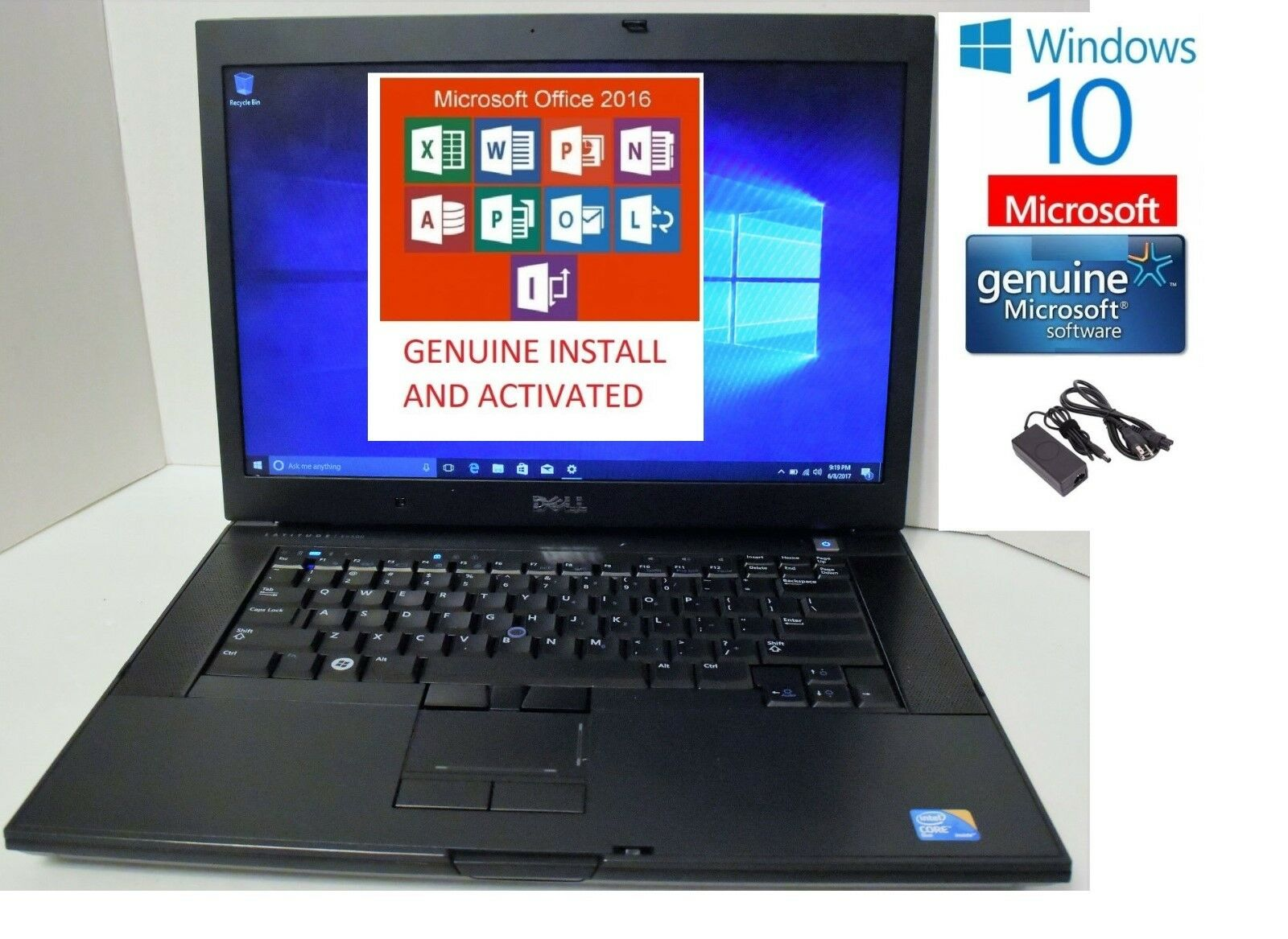 DELL LATITUDE E6500 WIN 10,,Office word 2016 complete, word,excel,Pwr ppt