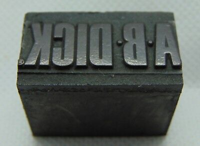 Vintage Printing Letterpress Printers Block A B Dick Company Copy Machine Office