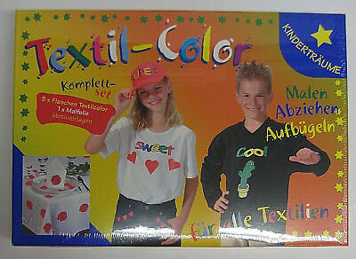 Textil-Color Komplett-Set Malen Abziehen Aufbügeln