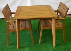 New 3Pc Capri Timber Dining Setting Outdoor Furniture Table Chair Melbourne CBD Melbourne City Preview