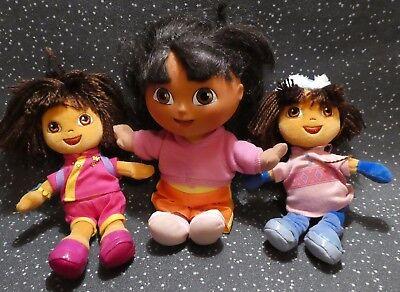 Ty Dora 2006 Beanie Dolls and Dora the Explorer talking doll 2002 Fisher Price