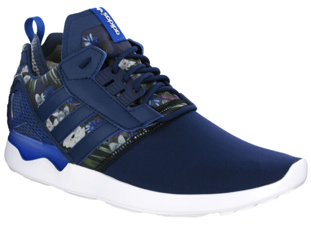 best value 0e374 cf73e ... reduced adidas zx 8000 boost running navy flower mens cushioned lace up  trainers b24959 6d174 c3d98