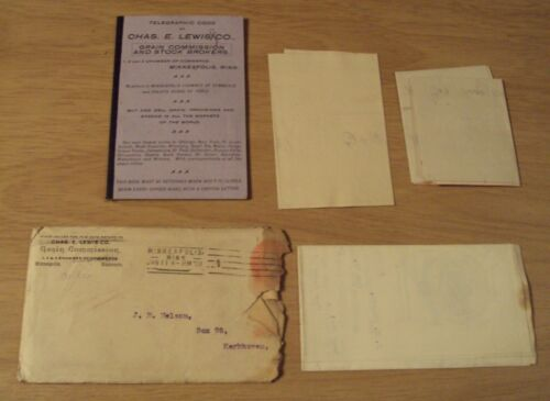 """1901 Investment/BROKERS  Lot~""""CHAS E. LEWIS CO""""~SECRET TELEGRAPH CODE BOOKLET~"""