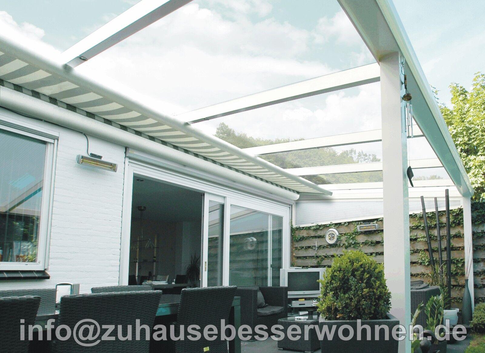 unterdachbeschattung markise f r terrassendach terrassen berdachung 4 5x3 m eur. Black Bedroom Furniture Sets. Home Design Ideas