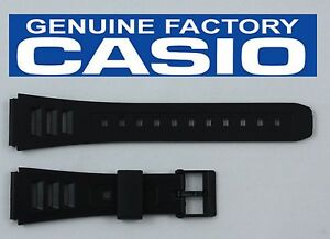 CASIO-Original-19mm-BLACK-Rubber-Watch-BAND-Strap-W-71-W-71MV-W-86