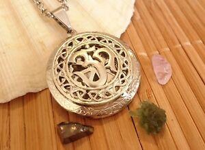 Moldavite OM Pendant Amulet Necklace Kunzite Shungite Elite Talisman Synergy 12