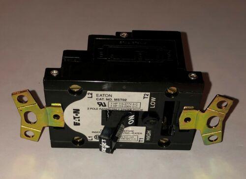 EATON CUTLER HAMMER MST02 115-230VAC 1 HP Manual Motor Starter 2 Pole 5668D59G01