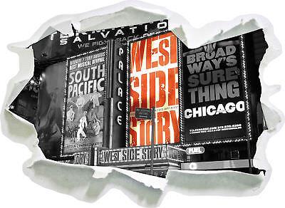 ten Broadway's - 3D Look Papier Wandtattoo Aufkleber-Sticker (Programm Papier)