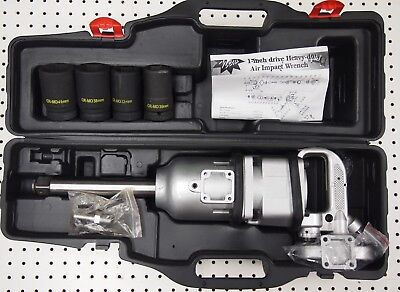 """5020 Ft lbs 1/"""" Air Impact Wrench Gun Long Shank Mining Agricultural Commercial"""