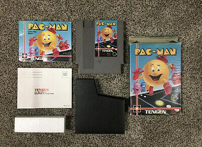 Nintendo NES - Pac-Man, Tengen - CIB, Gray, Complete in Box with Manual