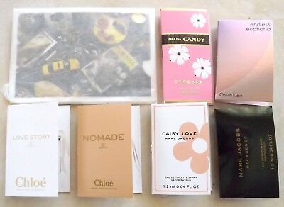 New Lot 7 Women's Perfume Fragrance Samples Marc Jacobs Daisy Love Chloe Nomade+