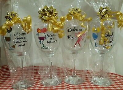 Disney Princess inspired wine glass, wine tumbler. Bridesmaid birthday gift xmas